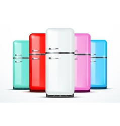 Set of Fridge refrigerator isolated on vector image