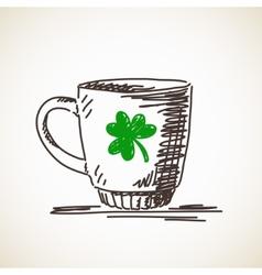 Sketch of mug vector