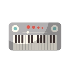 Synthesizer device isolated icon vector