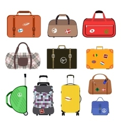 Travel bags vector