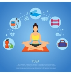 Yoga and fitness concept vector