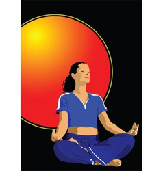 yoga poster vector image