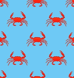 Crab pattern vector