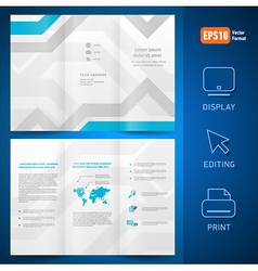 Brochure folder leaflet geometric abstract vector