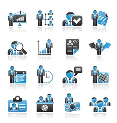 Human resource and employment icons vector