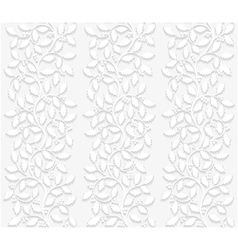 Seamless floral pattern with holly vector