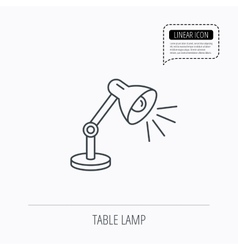 Table lamp icon desk light sign vector