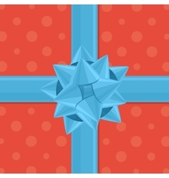 Gift wrapping with bow vector