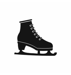 Figured skate icon black simple style vector