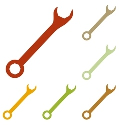 Crossed wrenches sign vector