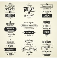 Success quotes typographical posters vector