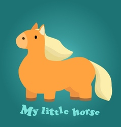 a Cute Little Horse vector image vector image