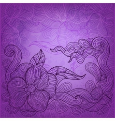 artistic doodle background vector image vector image