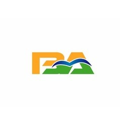 BA company group linked letter logo vector image