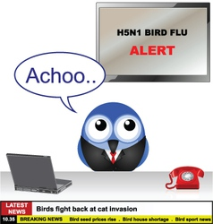 Bird flu news vector