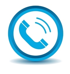Calling icon blue 3D vector image