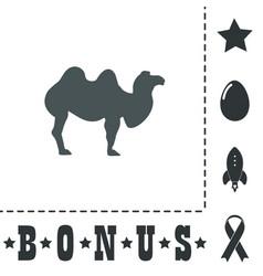 Camel flat icon vector