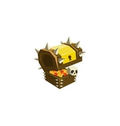Chest with treasure toy icon vector