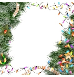 Christmas lights isolated on white eps 10 vector