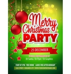 Christmas party flyer template vector image vector image