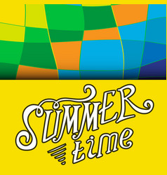 Colored summer time background vector