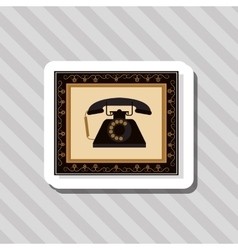 colorful retro phone design vector image