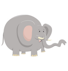 Elephant animal character vector