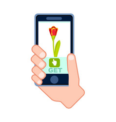 flower fast delivery service icon vector image vector image