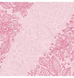 frame flower ink vector image
