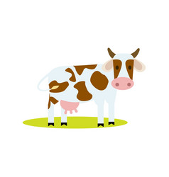 Funny cow isolated icon vector