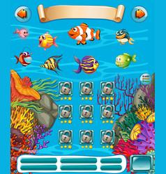 Game template with underwater scene vector