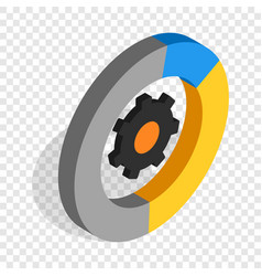 Gear wheels isometric icon vector