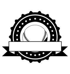 Isolated ball of baseball design vector image vector image