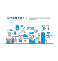 Medical care healthcare insurance first aid vector