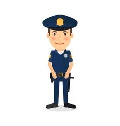 Policeman cartoon character vector image vector image