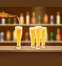 Realistic beer vector