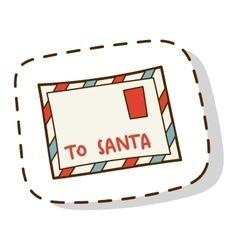 Santa letter vector image