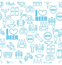 Seamless background of oktoberfest vector