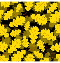 Seamless of Oak leaves vector image vector image