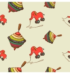 Seamless pattern baby toys vector