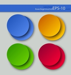 Set of round backgrounds vector image vector image