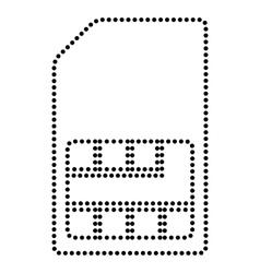 Sim card sign vector