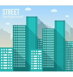 Skyscraper building in city space with road vector