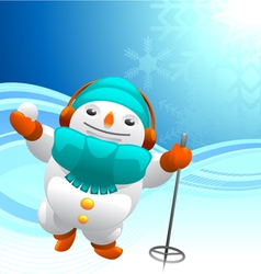 snowman background vector image vector image