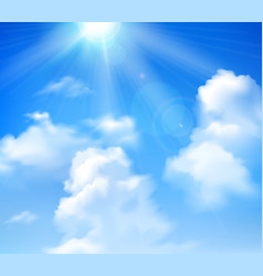 Sun Shining In Sky vector image vector image