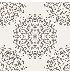 tree seamless pattern vector image vector image