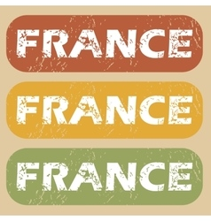 Vintage france stamp set vector