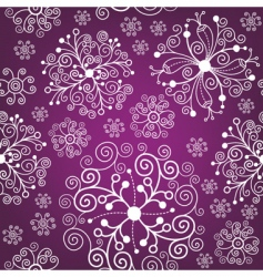 Christmas pattern snowflakes vector