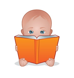 Baby reading vector
