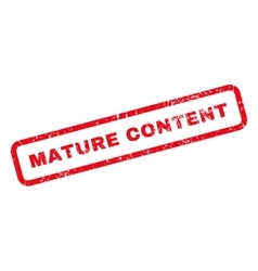 Mature content text rubber stamp vector